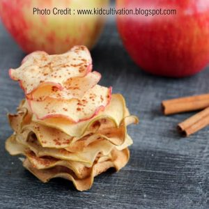 Baked Apple Crisps from Kid Cultivation