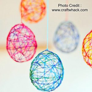 String Easter Eggs from Craft Whack