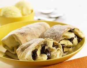 Banana And Chocolate Chimichangas