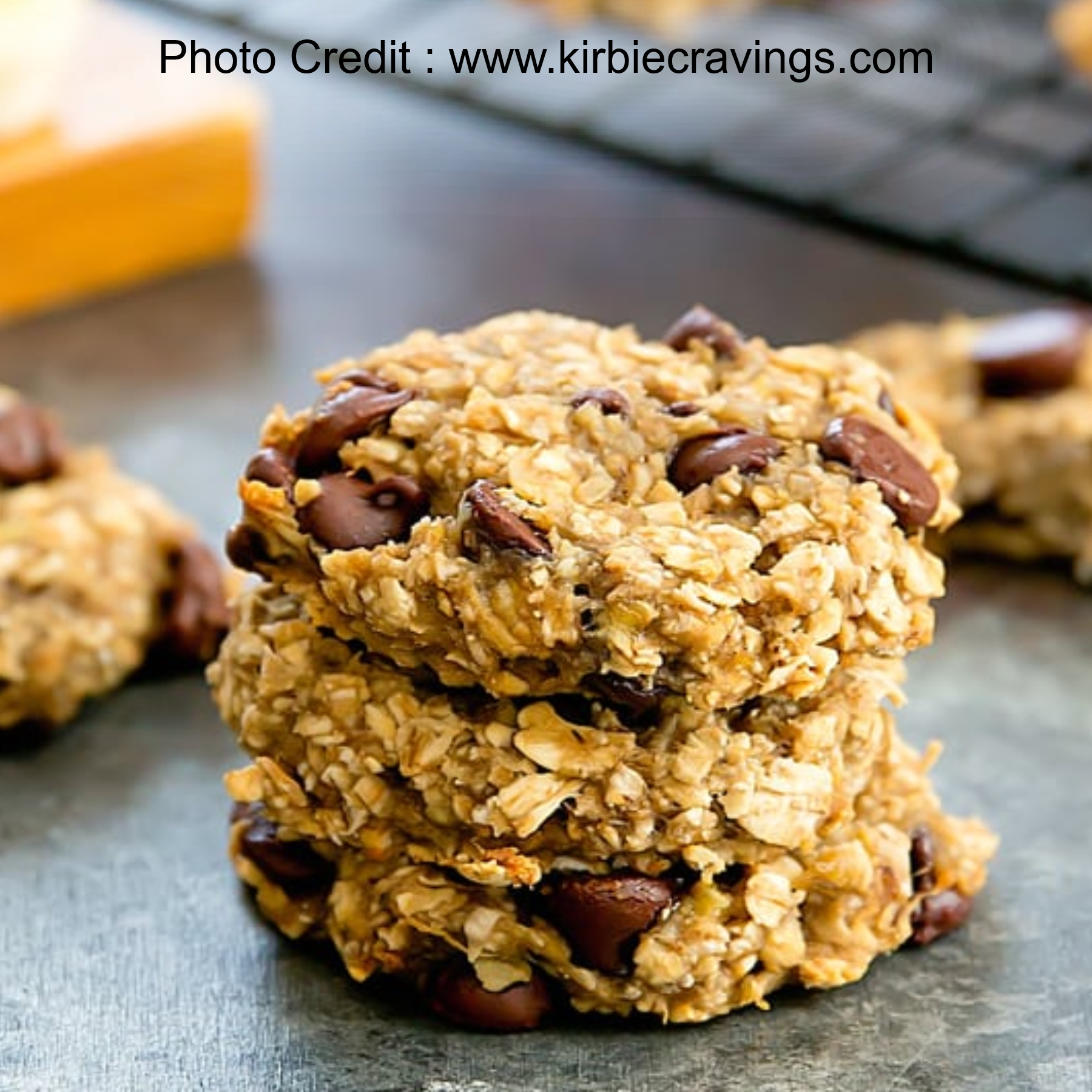 Two (Well Three Really) Ingredient Banana Oatmeal Cookies from Kirbie Cravings