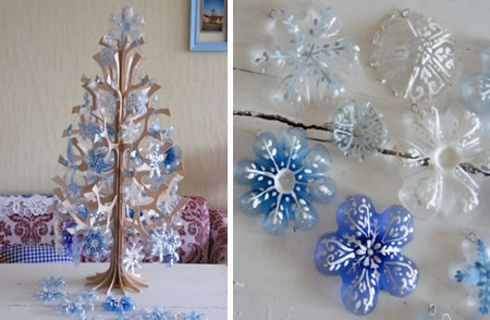 Bottle Bottom Snowflakes from Artesan