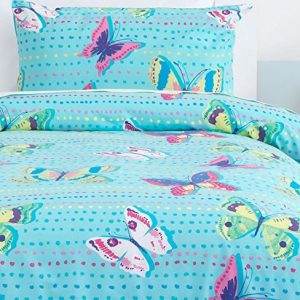 Blue, Butterflies Toddler Bedding Set