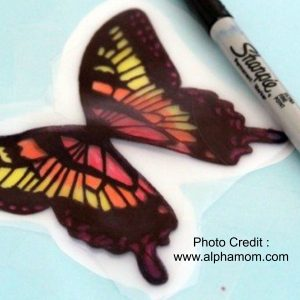 Butterfly Window Decorations from Alpha Mom