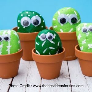 Cactus Pebbles from The Best Ideas For Kids