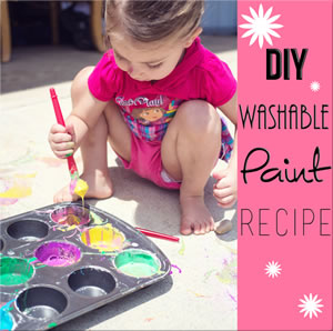 DIY Washable Pavement Chalk Paint