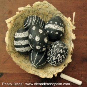 Chalkboard Eggs from Oleander And Palm