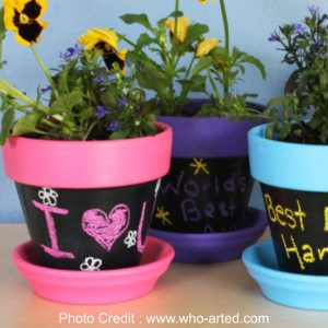Chalkboard Plant Pots from Who Arted?