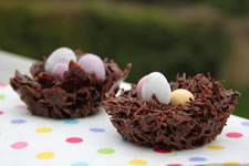 Chocolate nests - oscars lunch