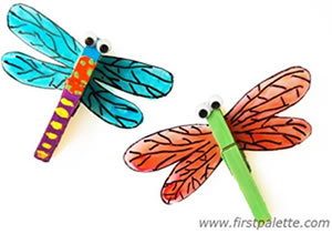 Clothes Peg Dragonflies
