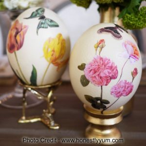 Decoupage Eggs from Honestly Yum