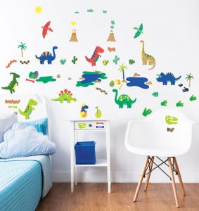 Pack of 58 dinosaur stickers