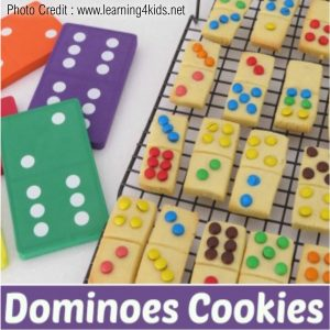 Domino Cookies from Learning 4 Kids