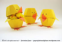 Egg Carton Chicks from Paper, Plate And Plane