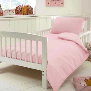 Egyptian Cotton Toddler Bedding - Pink
