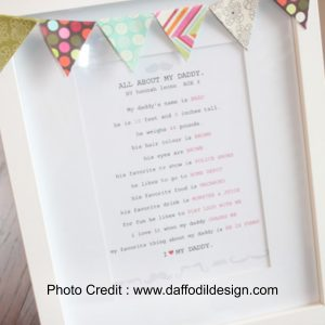 Father's Day Questionnaire from Daffodil Designs