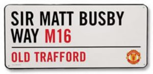 Manchester united street sign wall sticker