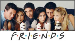 The Friends cast Matthew Perry, Jennifer Aniston, David Schwimmer, Courteney Cox, Matt LeBlanc and Lisa Kudrow