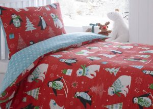 Frosty Friends toddler Christmas bedding