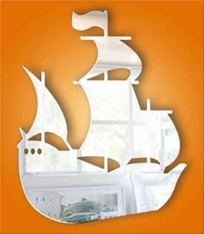 Galleon Acrylic Safety Mirror
