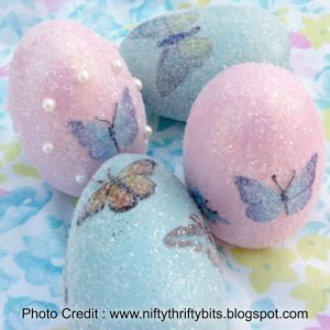 Glitter Eggs from Nifty Thrifty Bits
