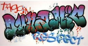 Graffiti wall sticker