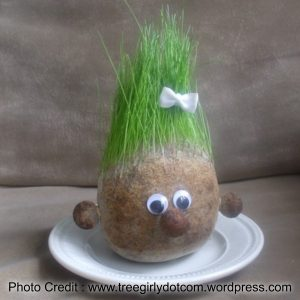 Grass Head from Tree Girly