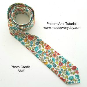 My version of the tie made using the pattern from Made Everyday