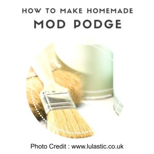 Home Made Mod Podge from Lulastic