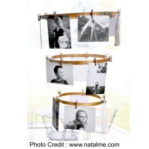 Embroidery Hoop Photo Display from Natalie Wright