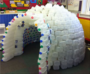 Plastic Milk Carton Igloo