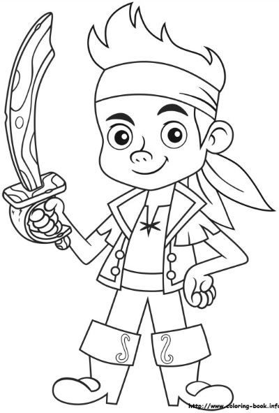 Jake And The Neverland Pirate Free Colouring Pages