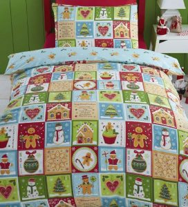 Jolly Gingerbread toddler Christmas bedding