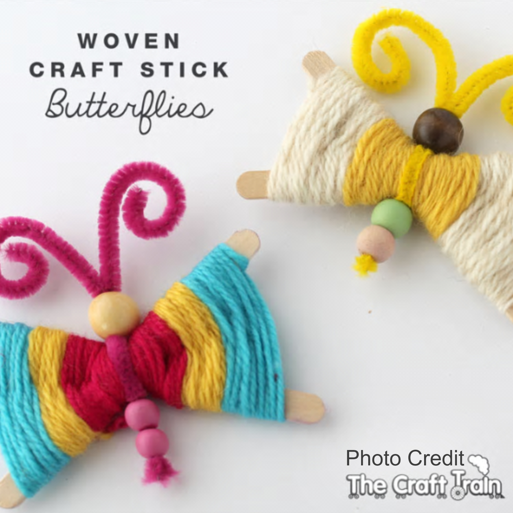 Lolly Stick Butterflies from Craft Train