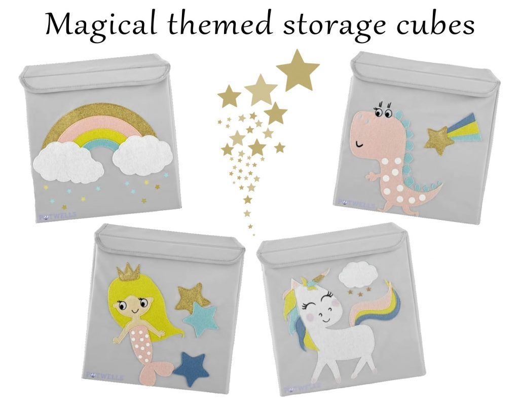 Magical themed storage cubes