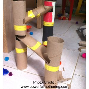 Marble Run from Powerful Mothering
