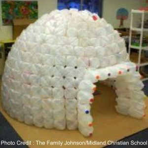 Plastic Milk Jug Igloo from Earth Wise Harmony