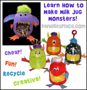 Plastic Milk Jug Monsters