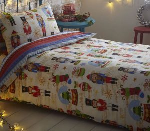 Nutcracker toddler Christmas bedding