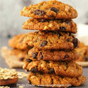 Oatmeal Raisin Cookies from Loving It Vegan