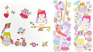 Olive Owl Wall Sticker Set