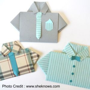 Origami Shirt And Tie from She Knows