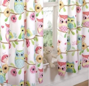 Owl And Friends Curtains