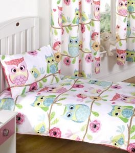 Owl And Friends toddler bedding