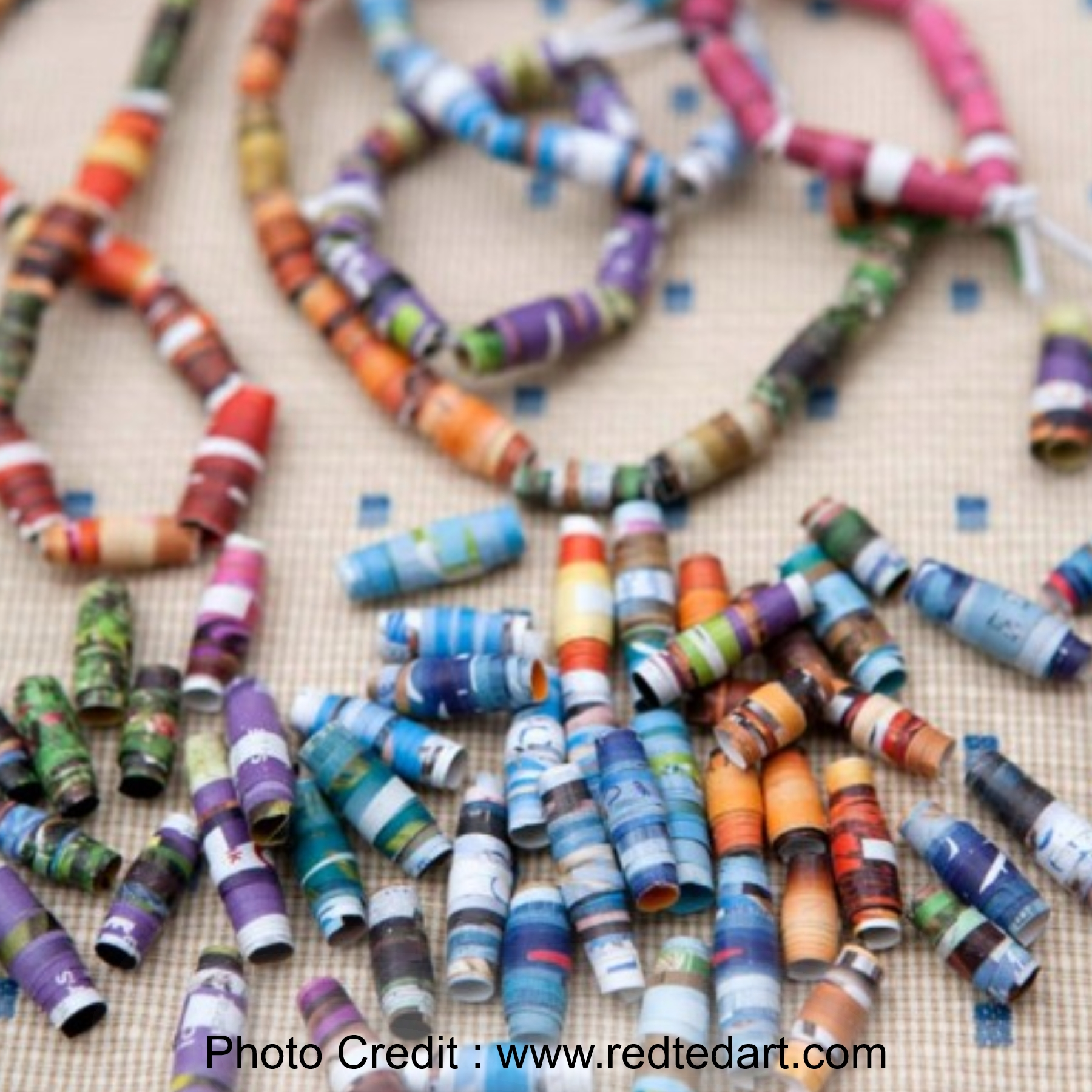 Paper Beads from Red Ted Art