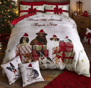 Animal Party king size Christmas bedding