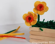 Pipe Cleaner Daffodils from Zingtree