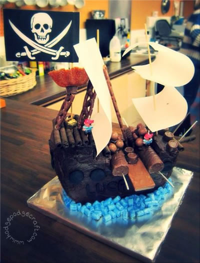 Pirate Ship Birthday Cake With Step By Step Instructions