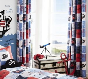 Pirate Ship curtains