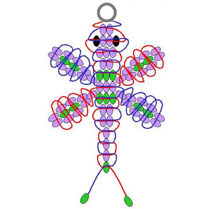 Pattern For A Pony Bead Dragonfly