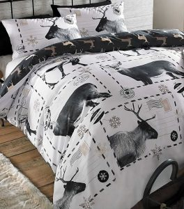 Reindeer Postcards Double Duvet
